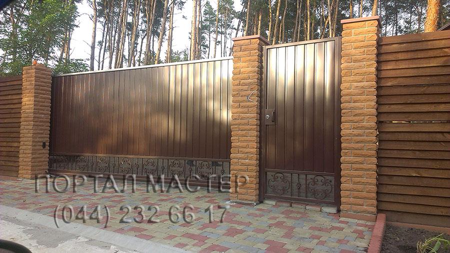 Откатные ворота в ПОРТАЛ МАСТЕР