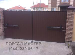 Распашные ворота фото 1